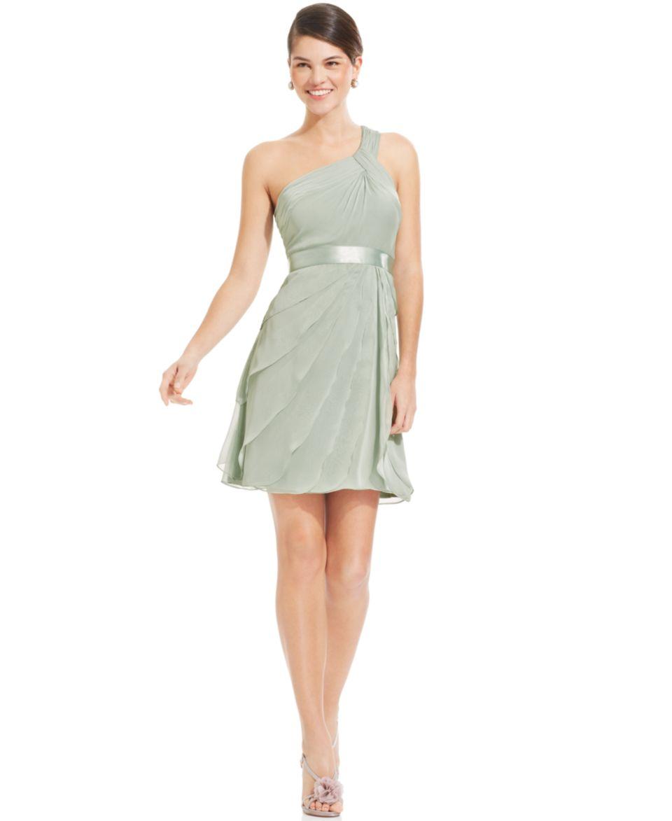 Adrianna Papell Strapless Floral Applique Dress   Dresses   Women
