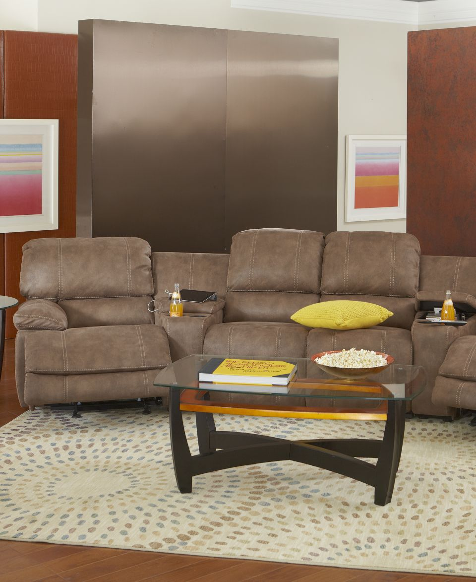 Jedd Fabric 5 Piece Power Reclining Home Theatre Sectional Sofa