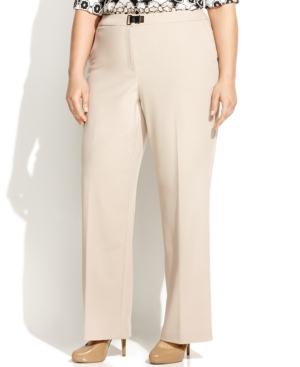 Calvin Klein Plus Size Straight-Leg Trousers