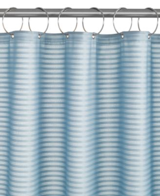 CLOSEOUT! Charter Club Woven Stripe Shower Curtain Liner