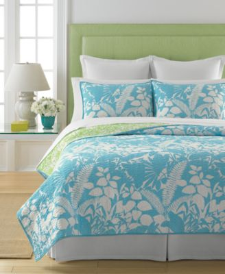 Martha Stewart Collection Paradise Palm Full/Queen Quilt