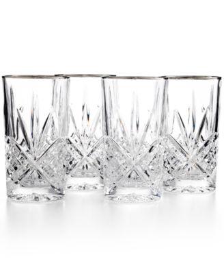 Dublin Platinum Highball Glasses, Set of 4
