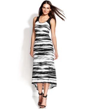 Calvin Klein Sleeveless Space-Dyed Midi Dress