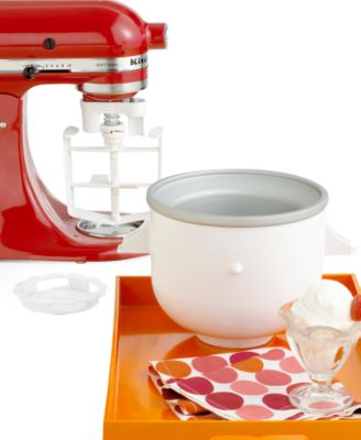 KitchenAid KICA0WH Stand Mixer Attachment, Ice Cream Maker
