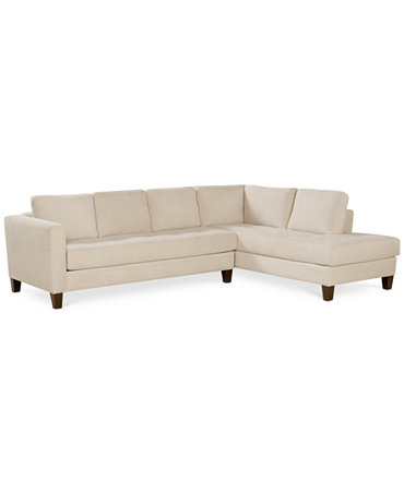 rylee fabric 2 piece sectional sofa furniture macy39s With rylee fabric 2 piece sectional sofa