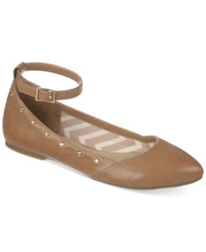 Fergalicious Goldie Ankle Strap Flats Women's Shoes