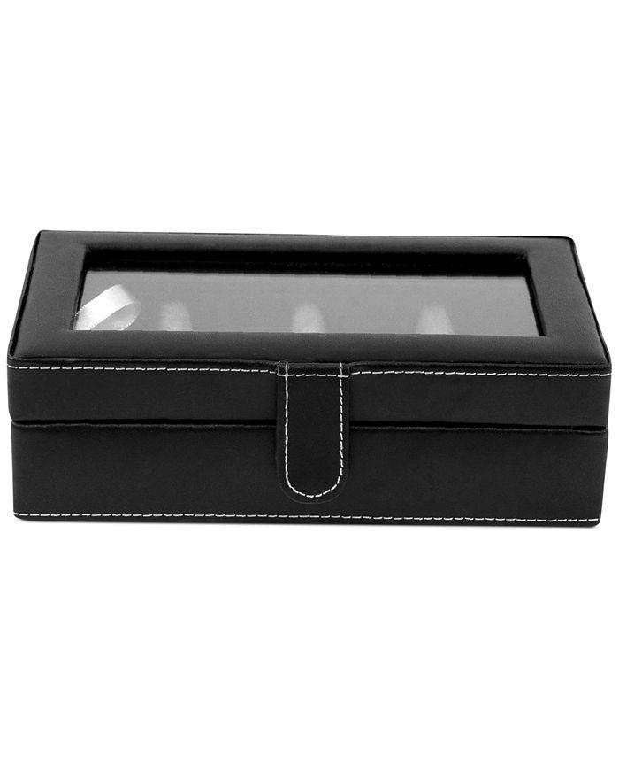 Bey-Berk - Leather 12-Piece Cufflinks Box