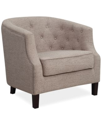 Penelope Fabric Accent Chair, Direct Ship