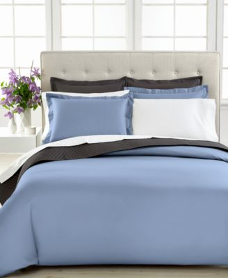 Charter Club Damask Solid 500 Thread Count Pima Cotton Full/Queen Duvet Cover, Only at Macy's