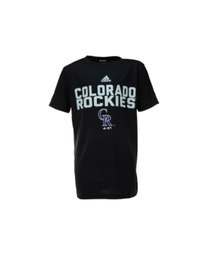 Adidas Boys 39 Colorado Rockies Batter Climalite T Shirt