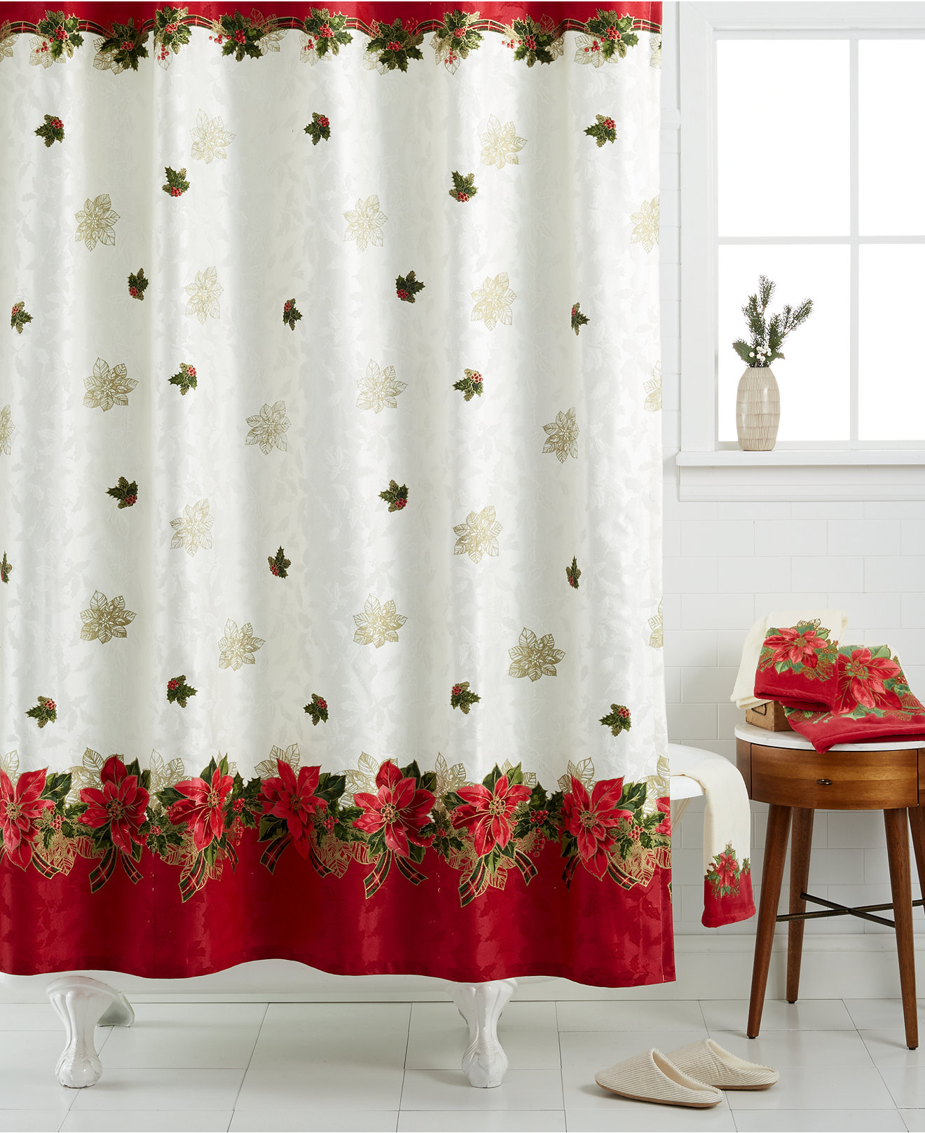 20 Christmas Shower Curtains Decorations Ideas 2019 UK
