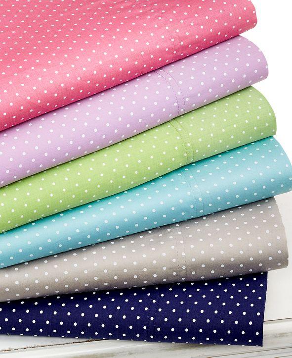 Elite Home Swiss Dot  Queen 4-pc Sheet Set, 300 Thread Count 100% Cotton