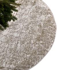 holiday lane crushed velvet silver tree skirt - Silver Christmas Tree Skirt