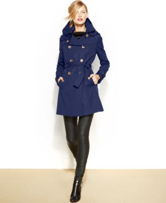 MICHAEL Michael Kors Petite DoubleBreasted Trench Coat