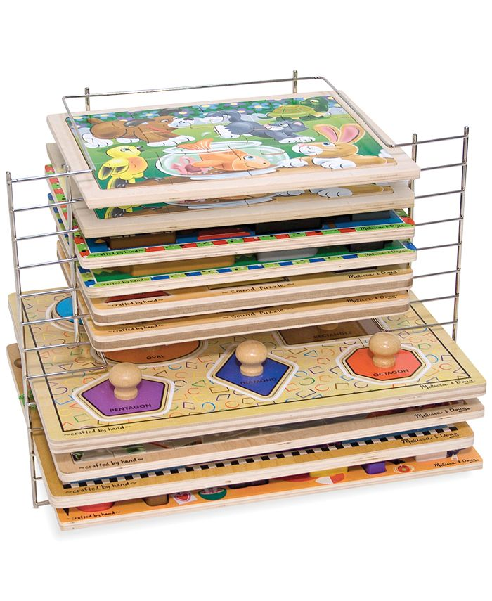 Melissa and Doug - Kids' Deluxe Wire Puzzle Rack