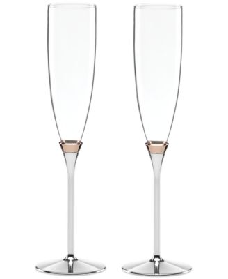 new york Rosy Glow Toasting Flute Pair