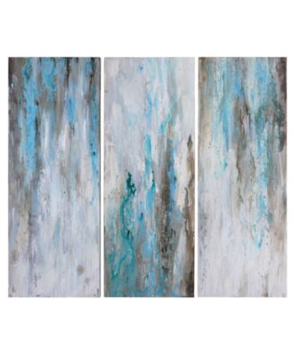 Uttermost Smokey Set of 3 Wall Art Panels