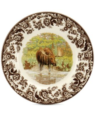 Spode Woodland Maejstic Moose Salad Plate