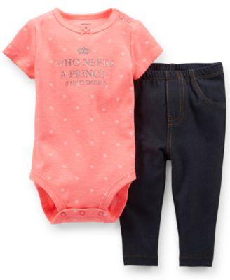 Carter's Baby Girls' 2-Piece Polka-Dot Bodysuit & Jeggings Set