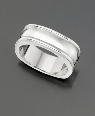 Sterling Silver Square Band Ring - Decorative Rings