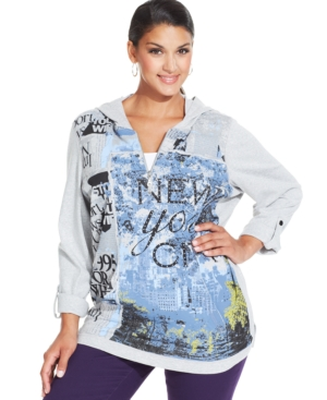 Style & co. Plus Size Graphic-Print Hoodie