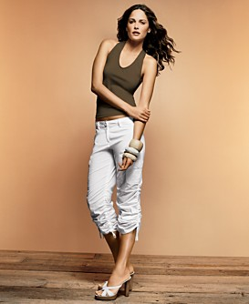 womens cropped cargo pants - Pi Pants