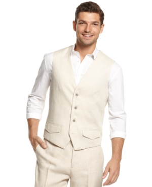 Tasso Elba Linen Vest $29.99 AT vintagedancer.com