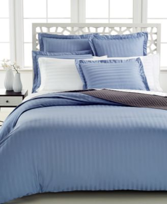Charter Club Damask Stripe 500 Thread Count Pima Cotton Full/Queen Duvet Cover, Only at Macy's