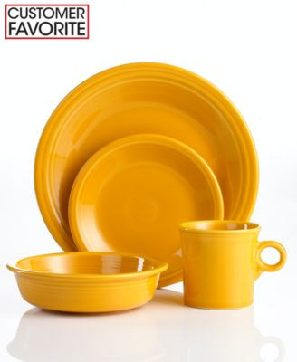 Fiesta Marigold 4-Piece Place Setting - Retired
