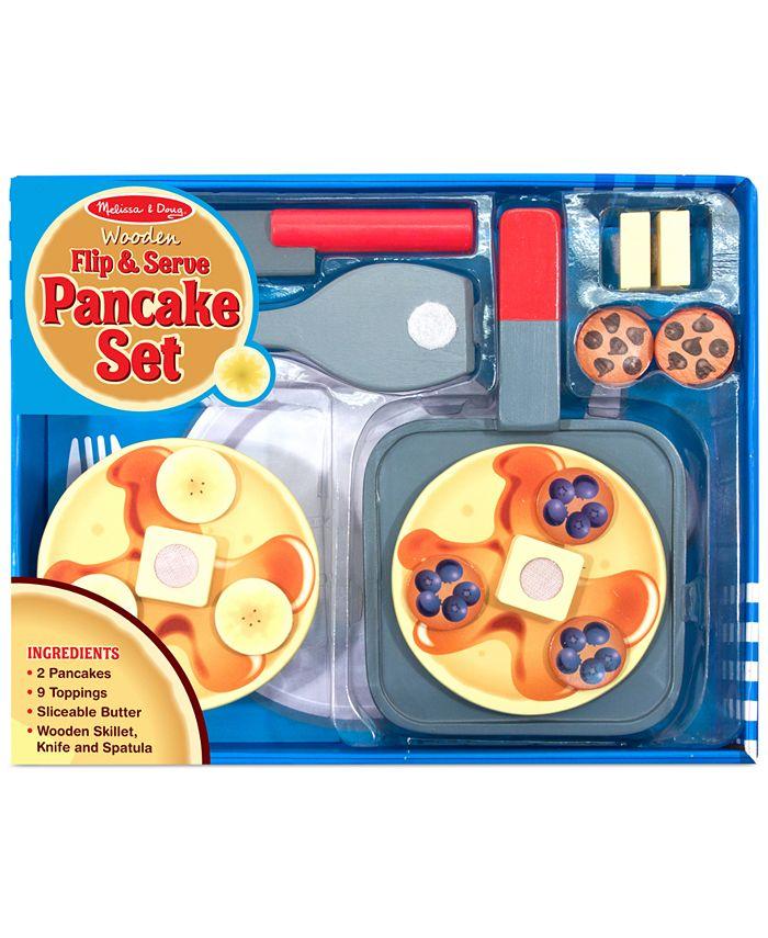 Melissa and Doug - Kids Wooden Flip & Serve Toy Pancake Set