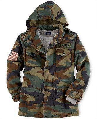 Ralph Lauren Boys Camo Field Jacket Kids Macy S