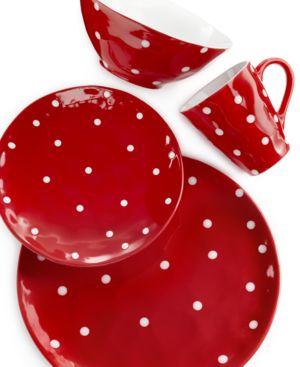 Maxwell & Williams Sprinkle Red 4-Piece Place Setting 808342