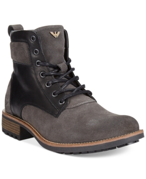 Armani Jeans Lace-Up Boots Mens Shoes