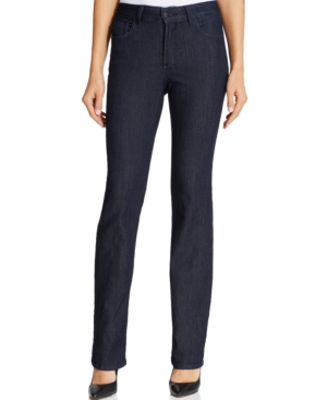 Nydj Petite Hayley Dark Enzyme Wash Straight-Leg Jeans