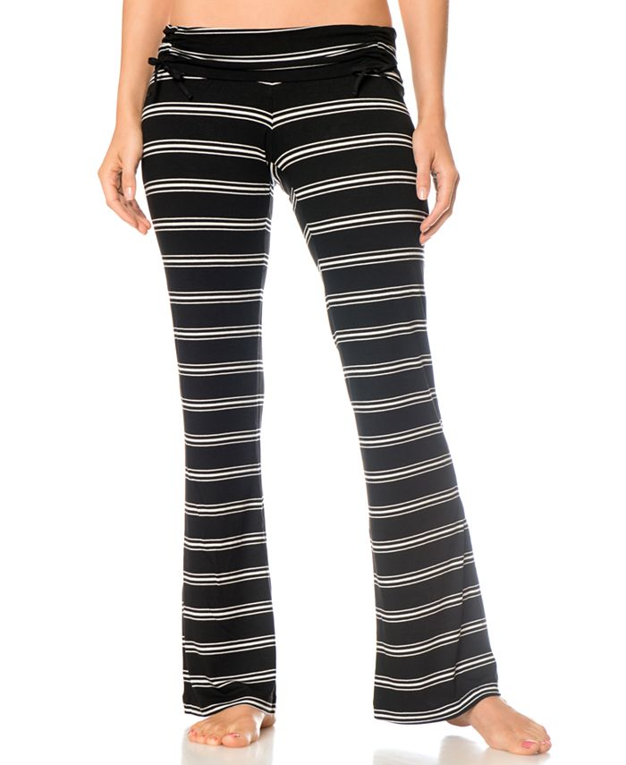 A Pea in the Pod - Maternity Adjustable Ruched Striped Pajama Pants