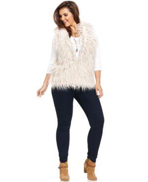 Modamix Plus Size Faux-Fur Vest