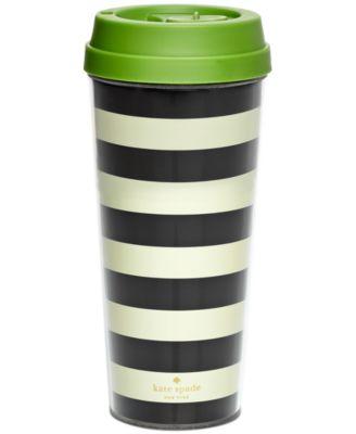 kate spade new york Striped Opaque Thermal Mug