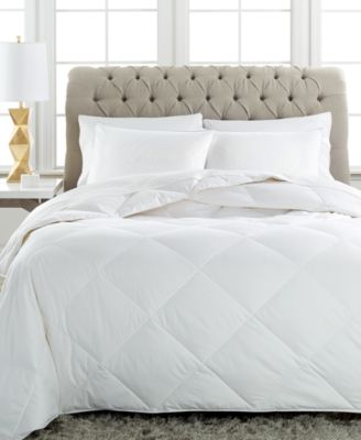 Charter Club Vail Level 1 European White Down King Comforter, Extra Light Warmth Hypoallergenic UltraClean Down, Only at Macy's