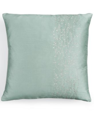 "Calvin Klein 18"" Square Metal Branches Decorative Pillow"