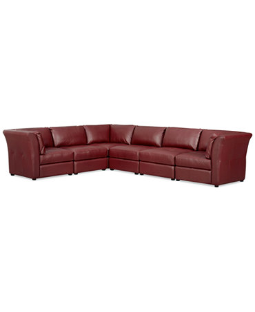 Mariella Leather 6 Piece Modular Sectional Sofa