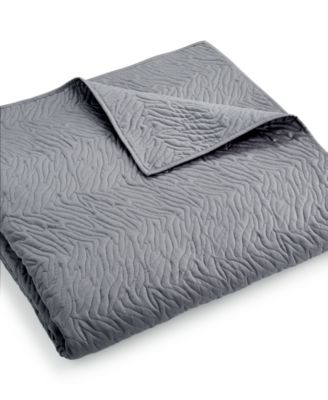 INC International Concepts Cheetah Graphite Full/Queen Coverlet