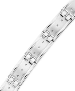 Diamond Bracelet in Stainless Steel (1/4 ct. t.w.)
