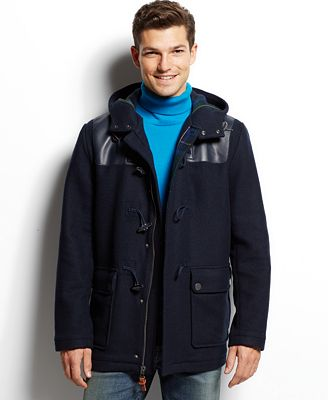tommy hilfiger darrel duffle coat coats jackets men macy 39 s. Black Bedroom Furniture Sets. Home Design Ideas