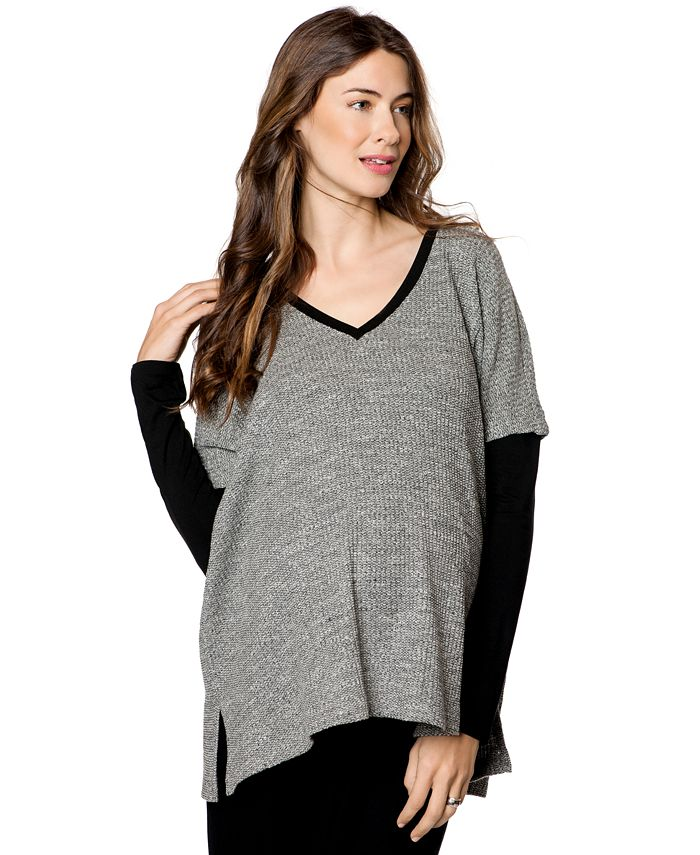 Drew - Drop-Shoulder Textured Sweater