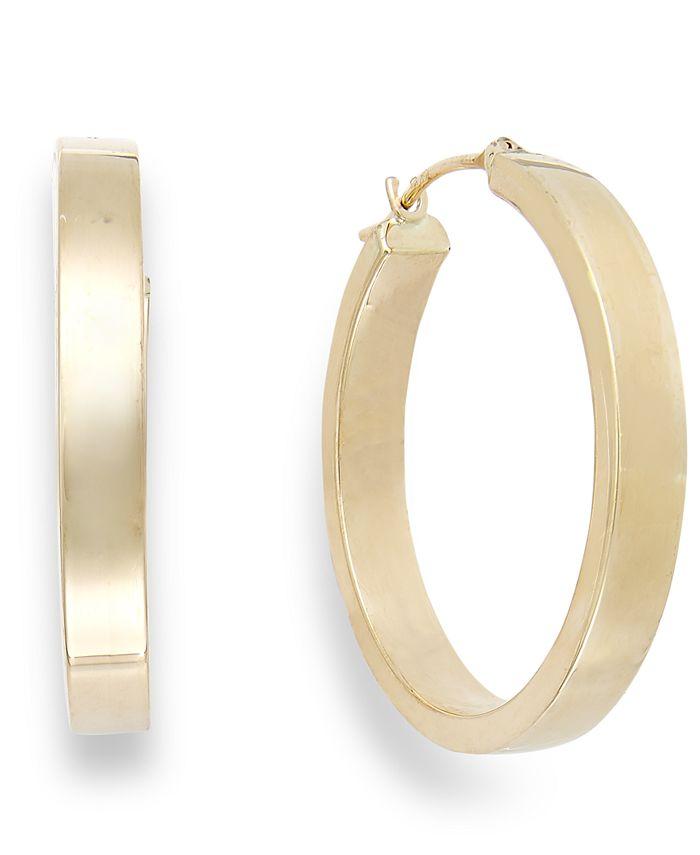 Macy's - Bold Hoop Earrings in 10k Gold