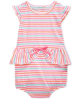 First Impressions Baby Girls' Striped Romper