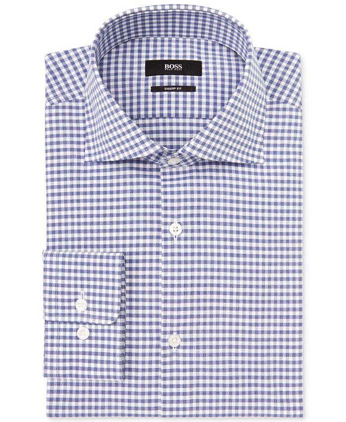Hugo Boss - Gingham Check Dress Shirt