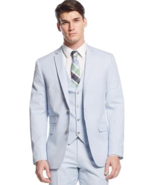 Bar Iii Blue and White Mini-Cord Jacket $89.99 AT vintagedancer.com