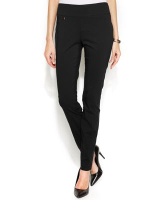 Image of Alfani Tummy-Control Skinny Pants, Only at Macy's