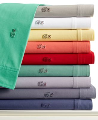 Lacoste Pair of Brushed Twill Standard Pillowcases
